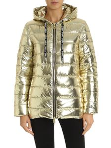 Gaelle Paris - Down jacket in laminated gold