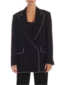 MSGM - Black jacket with rhinestone detail