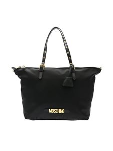 Moschino - Black shoulder bag with lettering logo