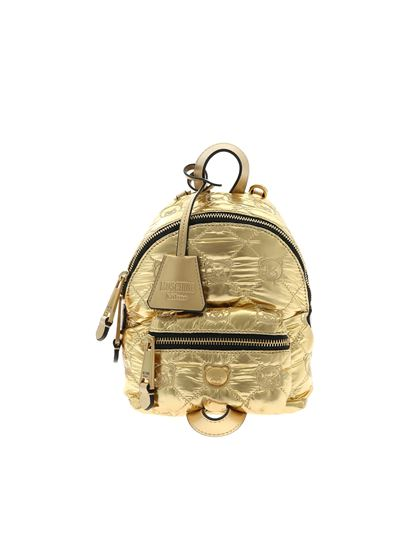 Moschino - Zaino mini Teddy Bear color oro
