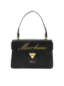 Moschino - Black handbag with logo print