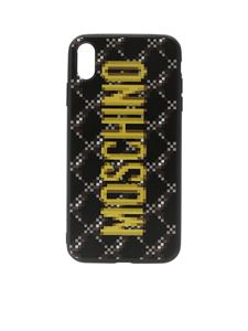 Moschino - Cover nera con stampa Pixel