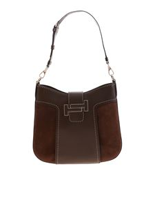 Tod's - Brown hobo bag in leather and suede