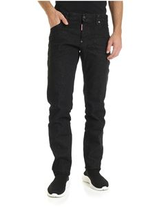 Dsquared2 - Slim black jeans with yellow logo