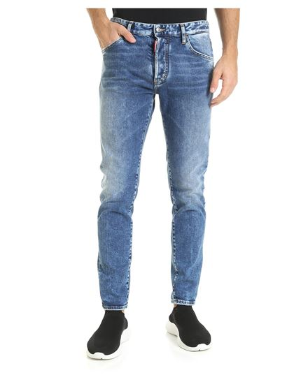 Dsquared2 Fall Winter 1920 skinny dan jeans in blue color
