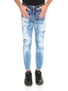 Dsquared2 - Skater jeans in light blue with rips