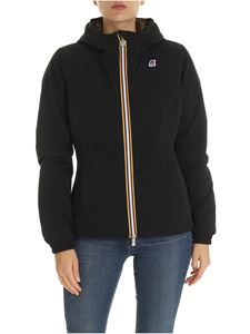 K-way - Lily black down jacket with hood