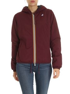 K-way - Lily down jacket in burgundy color