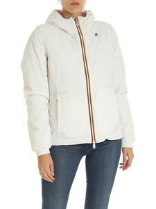 K-way - Lily white down jacket with hood
