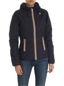 K-way - Lily double-face down jacket in blue