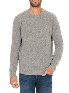 Dondup - Melange grey pullover in knitted fabric