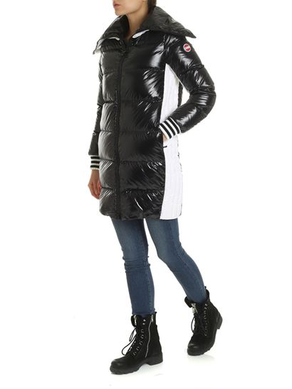 Colmar - Long down jacket in white and black color