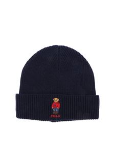 POLO Ralph Lauren - Berretto blu Polo Bear