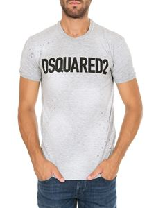 Dsquared2 - T-shirt DSQUARED2 grigia effetto destroyed
