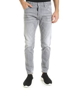 Dsquared2 - Dan skinny jeans in grey with neon logo