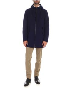Herno - Blue hooded coat
