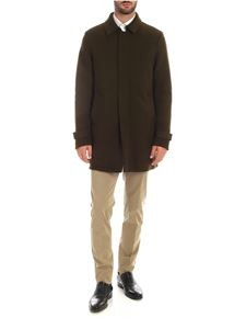 Herno - Padded coat in army green color