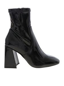Steve Madden - Black patent leather ankle boots