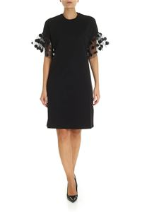 MSGM - Black dress with tulle sleeves