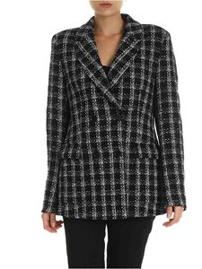 MSGM - Bouclé jacket with contrasting check pattern