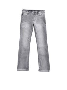 Emporio Armani - 5-pocket jeans in delavé grey color