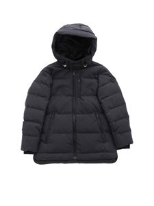 Emporio Armani - Down jacket with anthracite grey hood