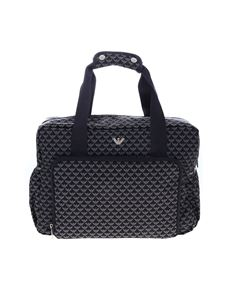 Emporio Armani - Mummy monogram bag set in blue