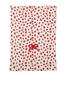 Monnalisa - Padded blanket with hearts print