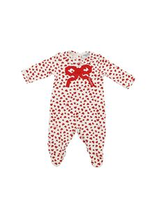 Monnalisa - Romper suit with red and white hearts print