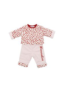 Monnalisa - Layette romper suit in pink and red