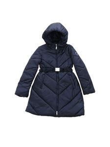 Monnalisa - Long down jacket with blue hood