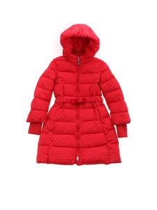 Monnalisa - Avvitato down jacket with red hearts print