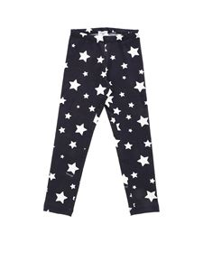 Monnalisa - Blue leggings white stars print