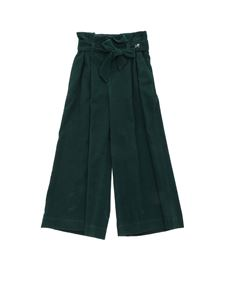 Monnalisa - Lady velvet trousers in green