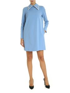 Vivetta - Dress in light blue with jewel details
