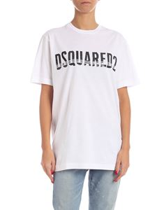 Dsquared2 - Sequin logo T-shirt in white