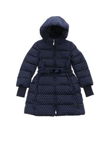 Monnalisa - Avvitato blue hearts print down jacket