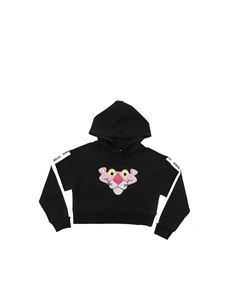 Monnalisa - Pink Panther crop sweatshirt in black