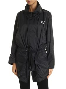 DKNY - MTA Tie Waist Coat overcoat in black