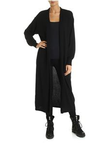DKNY - Long knitted cardigan in black