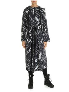 DKNY - MTA overcoat in black with signs print