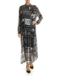 DKNY - MTA dress with signage print in black