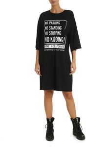 DKNY - Dress in black with contrasting print