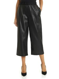 DKNY - Wide trousers with elasticated waist in black