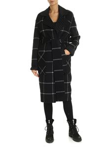 Karl Lagerfeld - Double face coat in black and gray