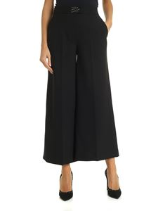 Karl Lagerfeld - Wide trousers with logo in black