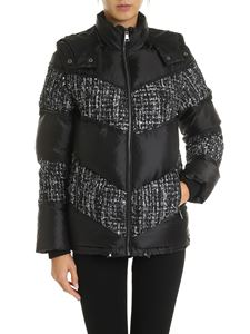 Karl Lagerfeld - Down jacket with bouclé inserts in black