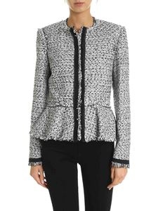 Karl Lagerfeld - Bouclé motif jacket in white and black