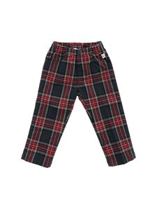 Il Gufo - Green and red tartan print trousers