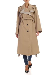 Maison Margiela - Beige single-breasted over-fit trench coat